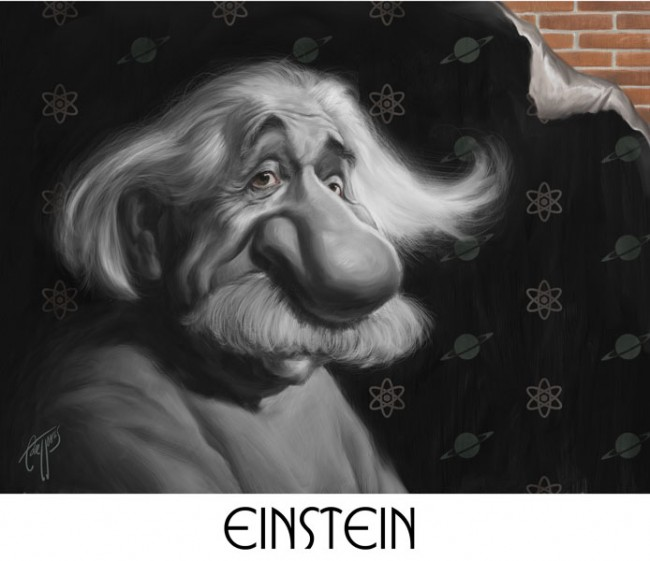 Albert Einstein Caricature Photo