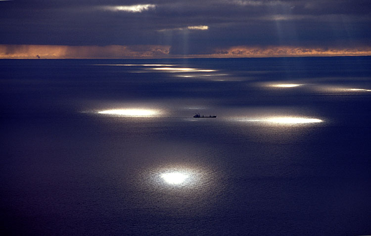 Mysterious Ship and Sea Photo