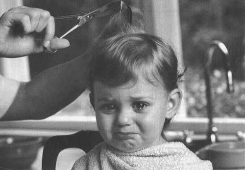 Baby Hair Cutting Photo