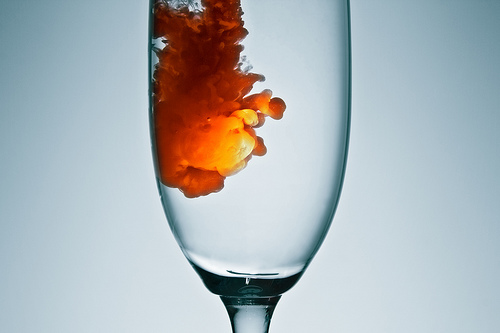 Liquid in glass photo