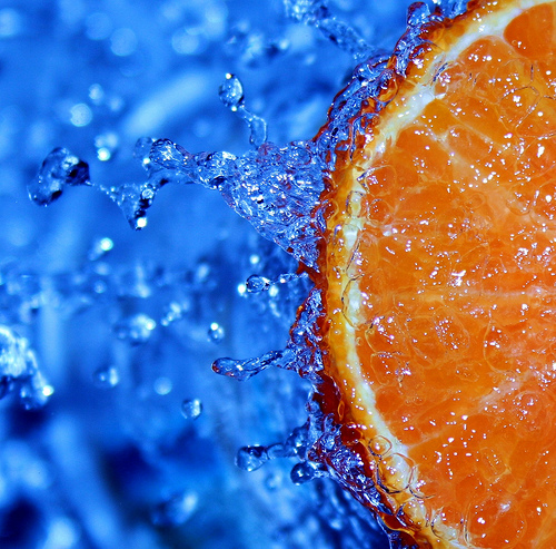Orange and water photo