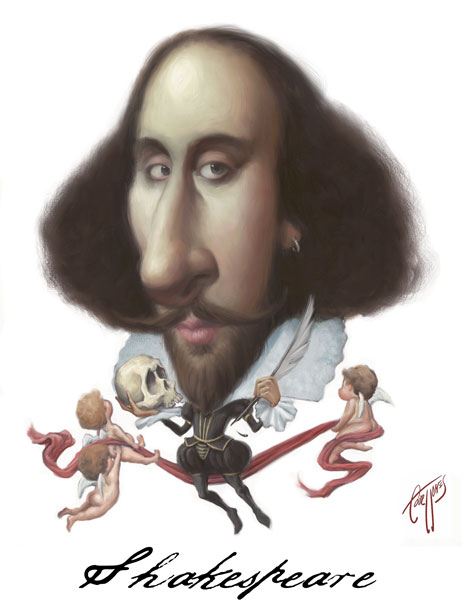 William Shakespeare Caricature Photo