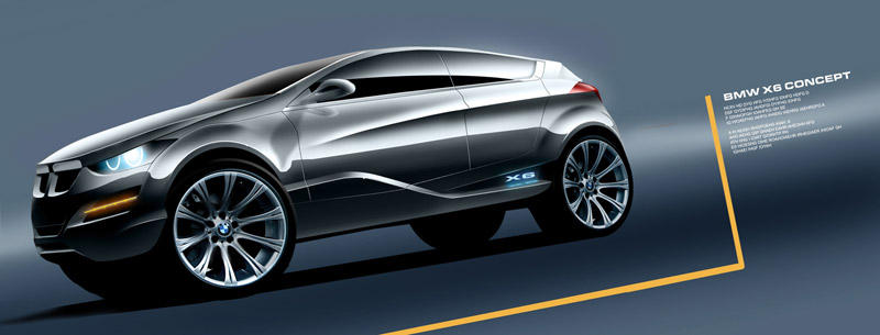 BMW X6 Concept metalic gray photo