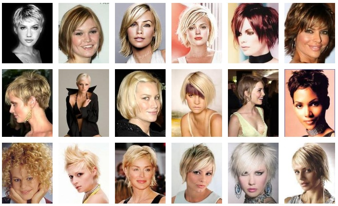 Short Hairstyles, Women's Hairstyles of early 90s haircuts, fat