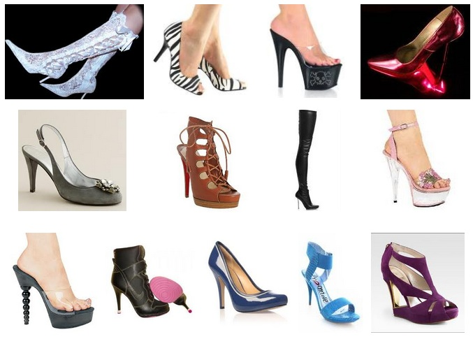 Women's high heel shoes photos